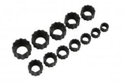 Conjunto extrator de porcas / parafusos danificadas, 12 peças