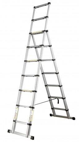 Escada de Alumínio Telescópica Combinada
